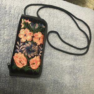 Petite embroidered Shoulder Purse